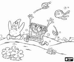 Kleurplaat Spongebob En Patrick In Gevaar Kleurplaten
