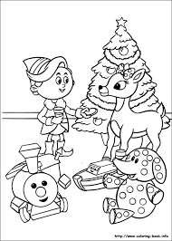 Small Picture the Red Nosed Reindeer coloring picture