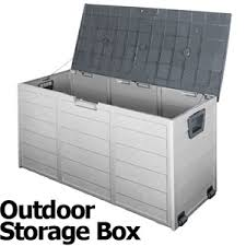 outdoor storage boxes plastic. 290l plastic outdoor storage box container weatherproof grey boxes x