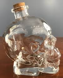 skull decanter side corked