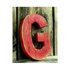 wood letter art wall decor elegant rustic barn wood letter g painted from
