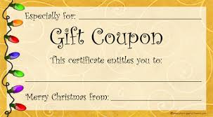 Create Your Own Gift Certificate Create Your Own Coupons