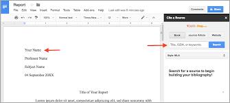 Mla Format Templates Powerful Pairing Easybib Add On Google Docs Mla Templates