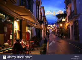 Decorations In Spain Spain Andalusia Marbella Christmas Decorations In The Streets