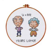 Funny Cross Stitch Patterns Free Best FREE Cross Stitch Pattern Funny Old Couple Love Years Later Epattern