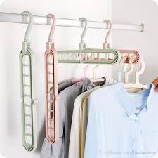 cloth hanger rack. Brilliant Hanger Multifunctional Antislip Clothing Hanger Cloth Storage Rack  Household Foldable Space Saving Wardrobe Clip Laundry Product To E