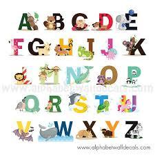 alphabet wall decal nursery wall decal