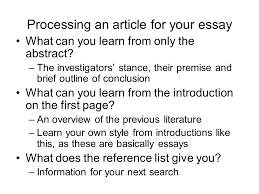 how to research for an essay and avoid plagiarism ppt video 13 processing an article for your essay