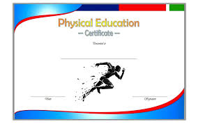 Sports Certificates Templates Free Download Physical