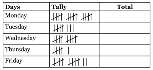 Stage 1 Data Tally Marks Student Assessment