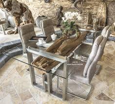 Moderner Esstisch Aus Holz Und Edelstahl