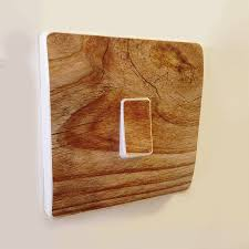 wood effect light switch covers by oakdene designs