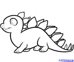 Small Picture dinosaur drawings for kids how to draw a stegosaurus for kids