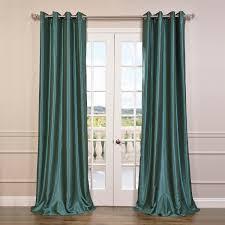 pea grommet blackout vintage textured faux dupioni silk curtain