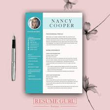 Designer Cover Letter Mesmerizing Professional Resume Template Cover Letter For MS Word Best Etsy