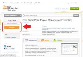 project management free templates free sharepoint project management template for office 365