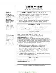 Resume For Retail Clothing Store Targer Golden D Rs Geer Books