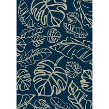allen roth indoor outdoor rugs new navy rectangular machine made of