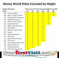 Ride Height Requirements At Walt Disney World