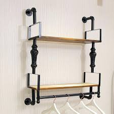 rustic clothing rack attractive wall mounted clothes rack with shelf coat floating modern farmhouse rustic entryway rustic clothing rack