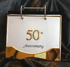 50th Golden Wedding Anniversary Photo Album Expandable Album
