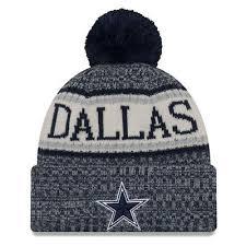 dallas cowboys new era official on field 2018 sideline sports knit beanie hat