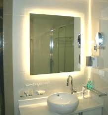 bathroom mirrors with led lights. Bathroom Mirrors Led Lights Mirror With Yellow  Back Light Behind Glass Decorations Sink Ceramics Bathroom Mirrors With Led Lights S