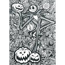 Nightmare Before Christmas Coloring Book Pages Nightmare Before