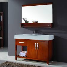 cherry wood bathroom vanities. Furniture Wondrous Cherry Wood Bathroom Wall Cabinet With Slatted Shelving Unit And Integrated Double Sink Vanity Vanities A