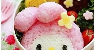 My Melody Onigiri Character Bento Recipe by cookpad.japan - Cookpad