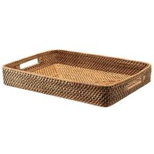 wicker serving trays rectangular rattan serving tray honey brown large wicker serving tray with handles wicker serving trays