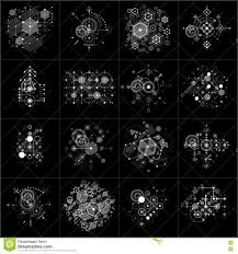 Set Of Vector Bauhaus Abstract Monochrome Backgrounds Made With