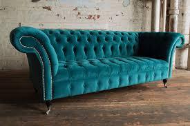 velvet chesterfield sofa.  Velvet MODERN HANDMADE 3 SEATER PLUSH BLUE TEAL VELVET CHESTERFIELD SOFA COUCH   EBay Throughout Velvet Chesterfield Sofa O