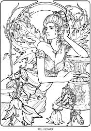Welcome To Dover Publications Floral Fairies Coloring Book 塗り絵