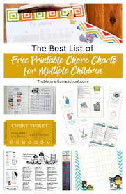 The Best List Of Free Printable Chore Charts For Multiple