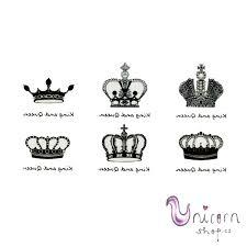 Nalepovací Tetování Královské Koruny