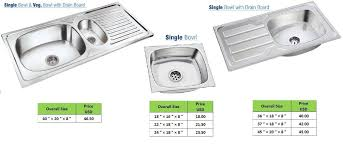 stainless steel kitchen sink india awesome single sink with drainboard sink ideas image of stainless steel