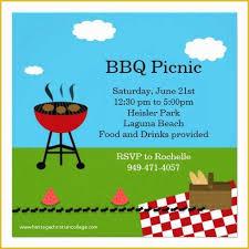 Free Picnic Invitation Template Of Bbq Party Invitation