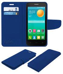 Alcatel POP D5 Flip Cover by ACM - Blue ...