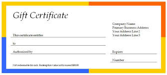 free business gift certificate template word gift ideas
