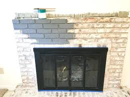 diy brick fireplace paint your brick fireplace in two easy steps the quick and easy way diy brick fireplace