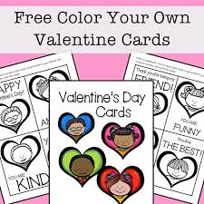 From coloring pages to card pouches give them a memorable valentine's day. Free Printable Valentine Cards To Color For Kids Set Of 8 Cards