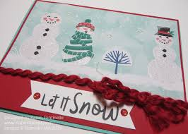 Christmas Card Mailing List Let It Snow Designer Paper Christmas Card Stamping With Karen