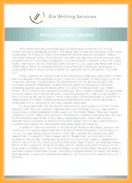 Biography Templates Examples Personal Professional Sample