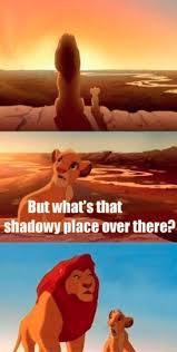 Simba Shadowy Place Blank Meme Template - Imgflip via Relatably.com