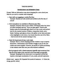 Informative Essays Examples Sample Introduction Of Expository Or Informative Essay
