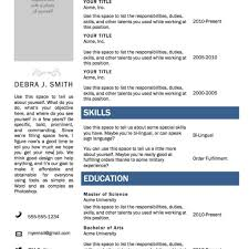 Free Ms Word Resume Templates Best Resume Formats 47free Samples