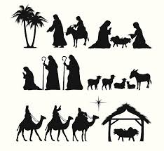 nativity silhouette patterns download. Beautiful Nativity Nativity Silhouette Vector Art Illustration Throughout Patterns Download