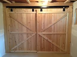 bypass sliding garage doors. Unfinished Birch Wooden Barn Door For Garage Closet Ideas With Lighting Bypass Hardware Sliding Doors E