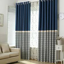 Navy And White Curtains Brief Navy Blue Blackout Living Room Ready Made Striped Curtains
